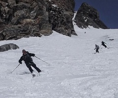 Epic off piste conditions on the Grands Montets