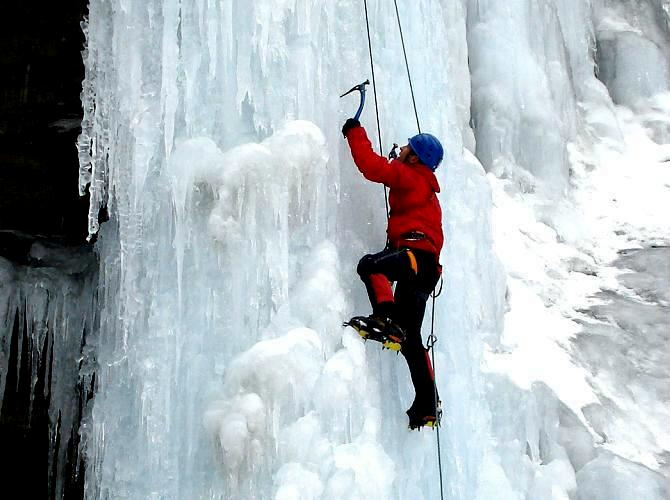 Icicle Canada Waterfall Ice Climbing Course
