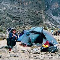 At the Barancco camp at 3950m