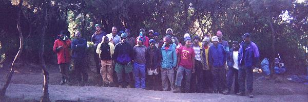 The team of local porters and some of the guides that are used on each expedition