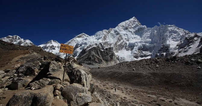 View from the high point of Kala Patar with Everest dominating the panorama
