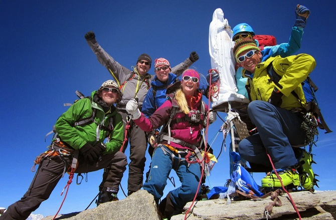 On the summit of Gran Paradiso
