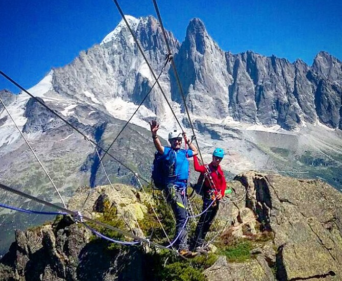 Klettersteig Chamonix : Icicle chamonix via ferrata an acion packed week on the